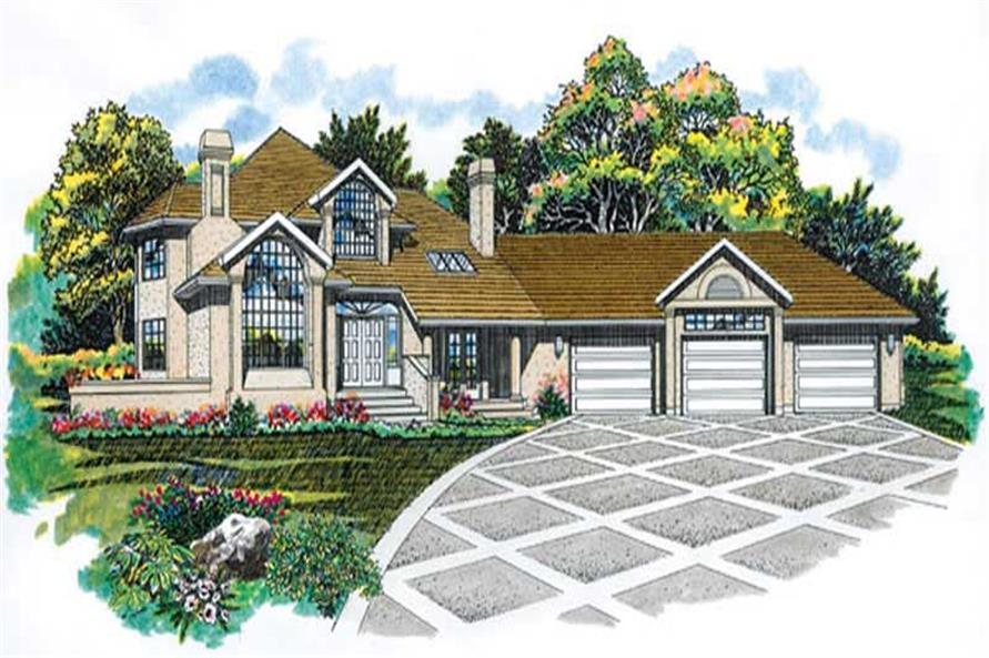 Main image for house plan # 7107