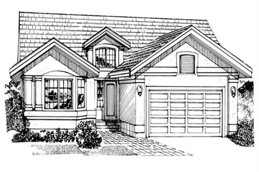Main image for house plan # 7115