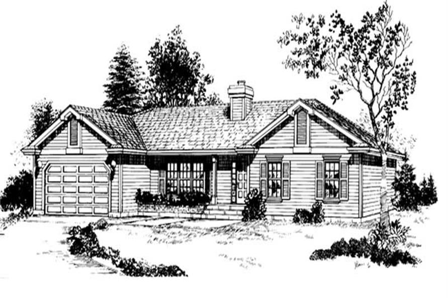 Main image for house plan # 7116