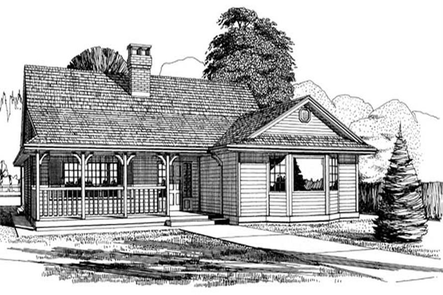 Main image for house plan # 7078