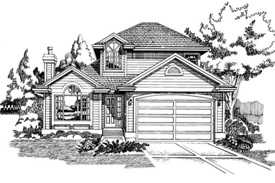 Main image for house plan # 7087
