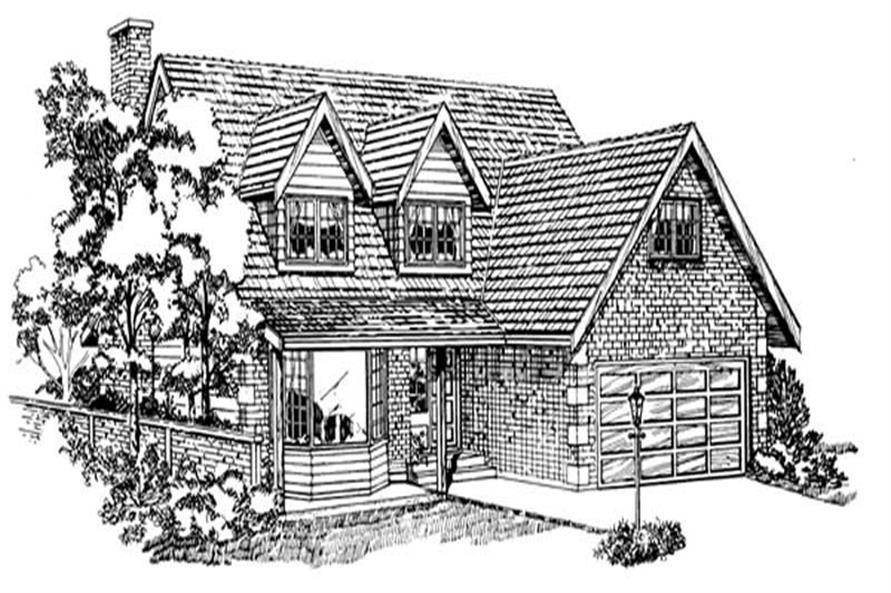 Main image for house plan # 7024