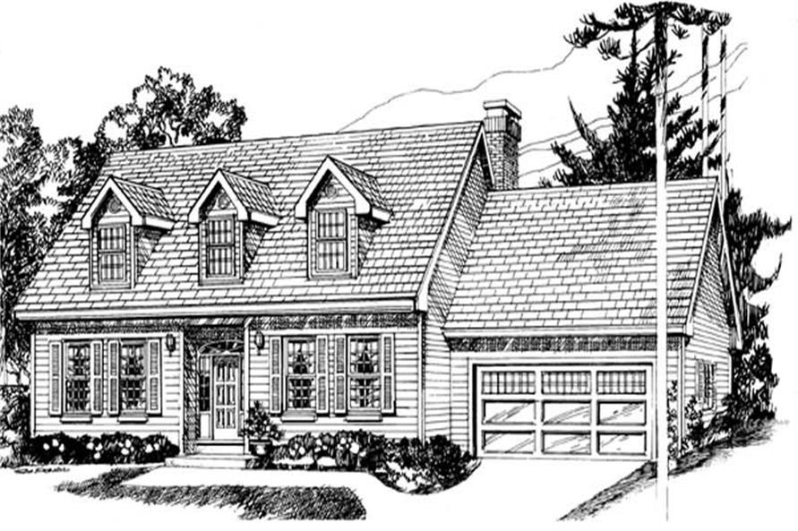 Main image for house plan # 7063