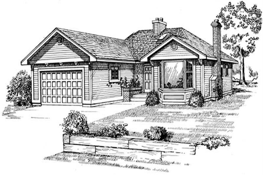 Main image for house plan # 7045