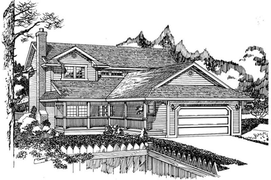 Main image for house plan # 7331