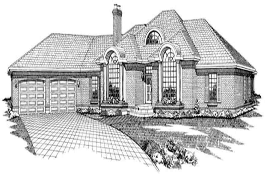 Main image for house plan # 7105
