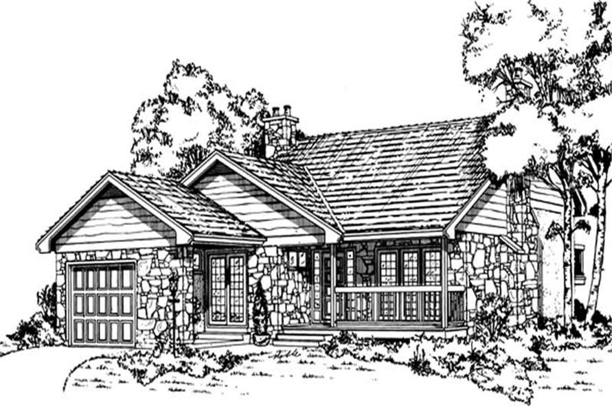Main image for house plan # 7324