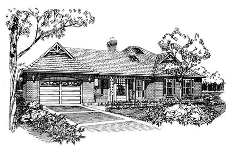Main image for house plan # 7283