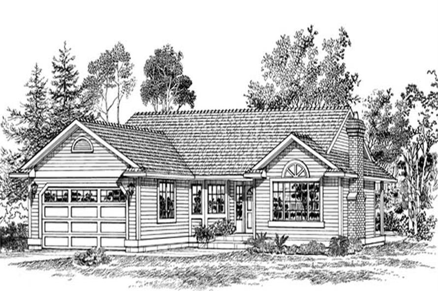 Main image for house plan # 7161