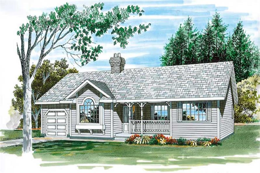 Main image for house plan # 7144