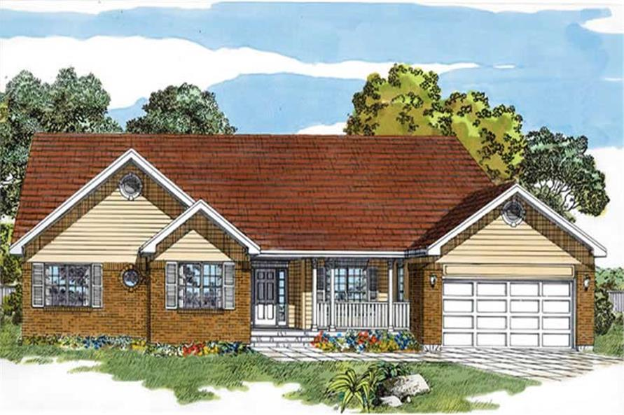 Main image for house plan # 7168