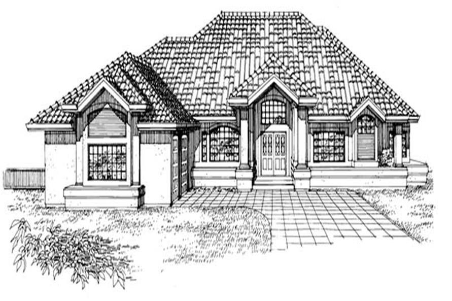 Main image for house plan # 7217