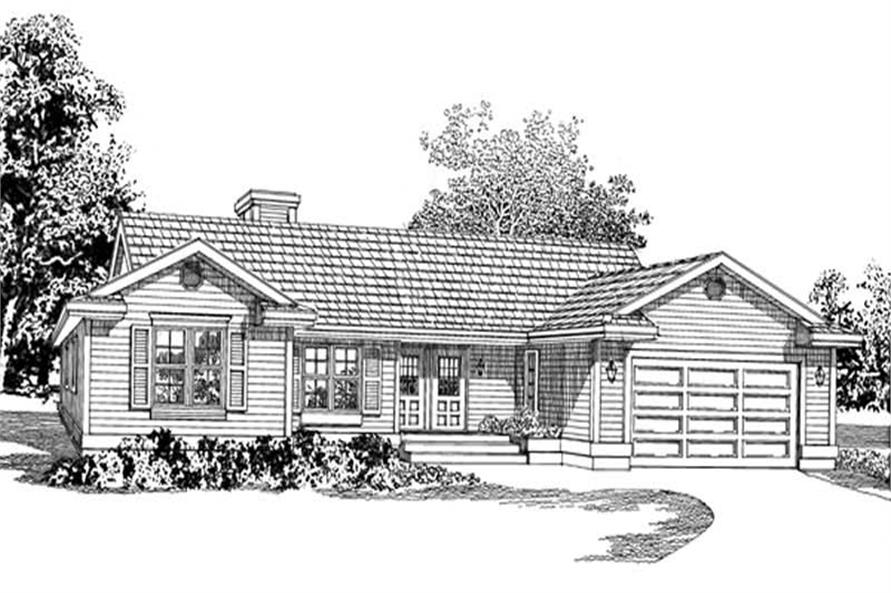 Main image for house plan # 7117