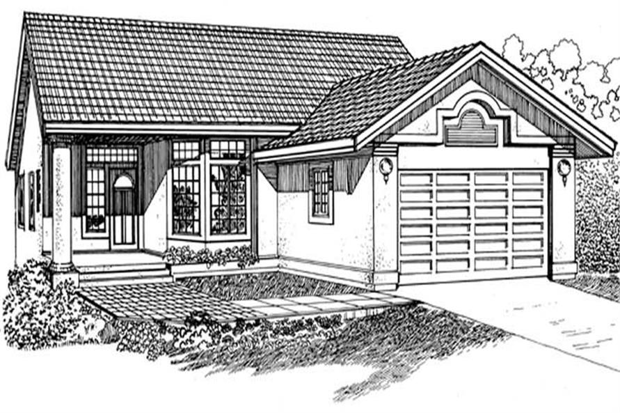 Main image for house plan # 7111