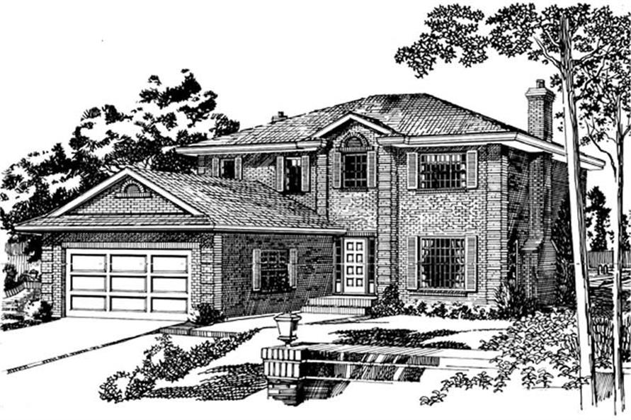 Main image for house plan # 7334