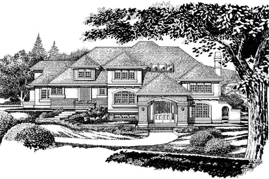 European Plans front elevation rendering.