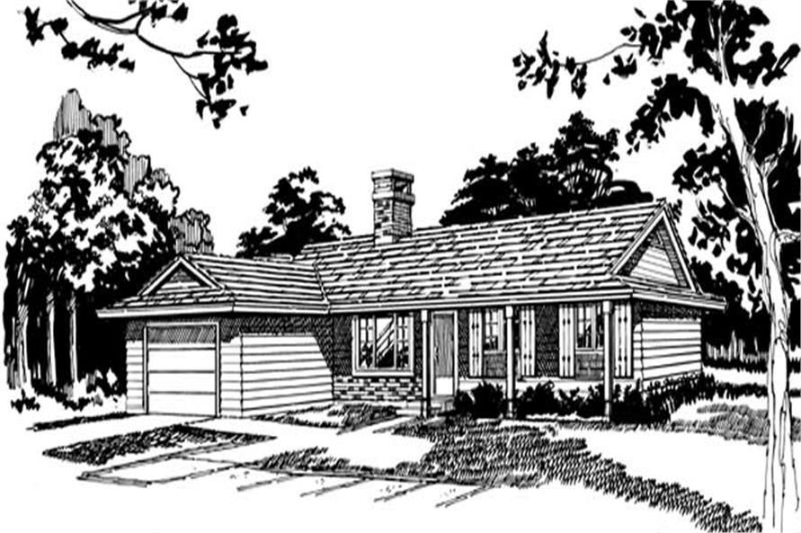Main image for house plan # 7435