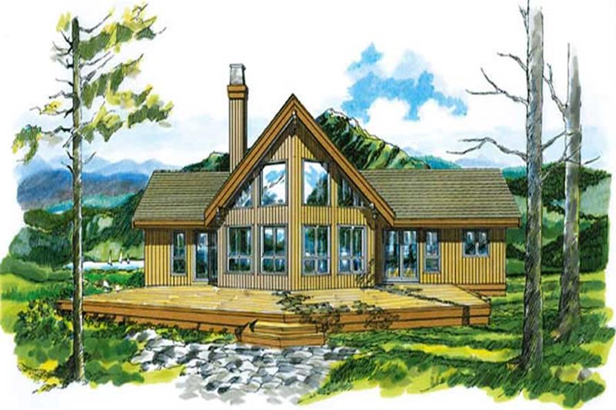 Log Houseplans front elevation.