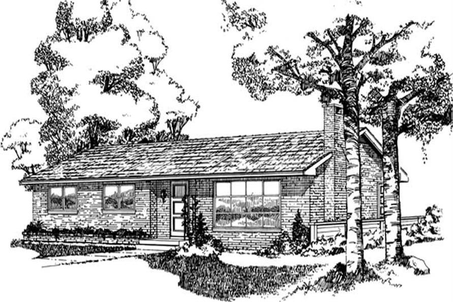 Main image for house plan # 7312