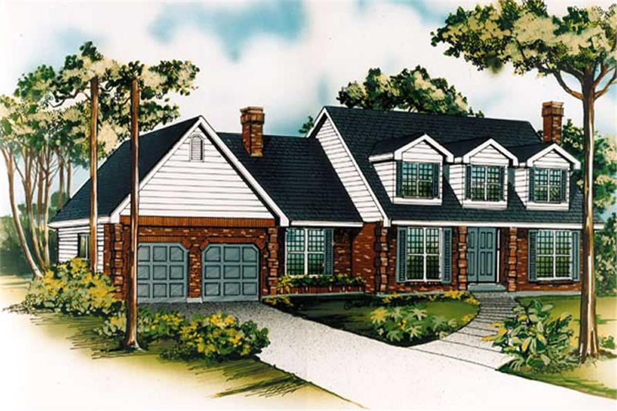 Main image for house plan # 7344