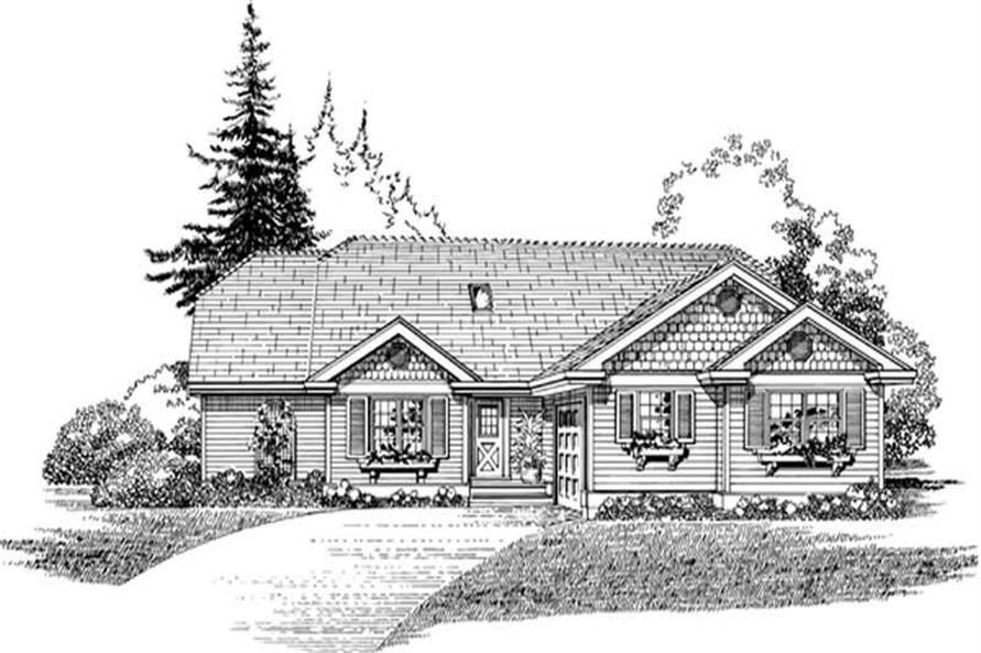 Main image for house plan # 7408