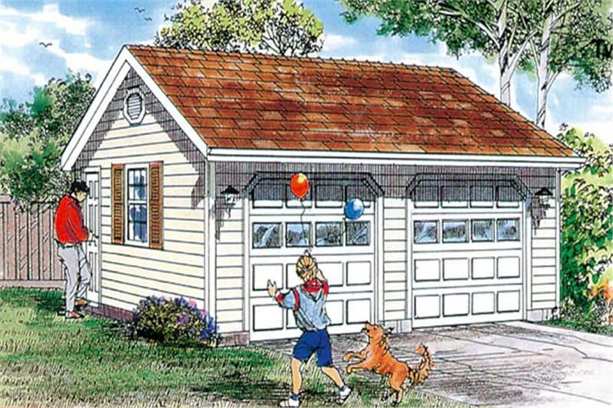 Main image for house plan # 7383