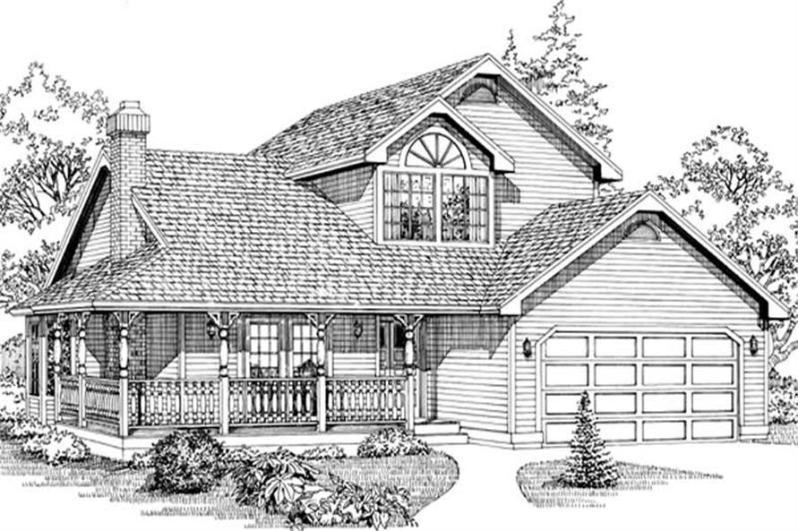 Main image for house plan # 6829