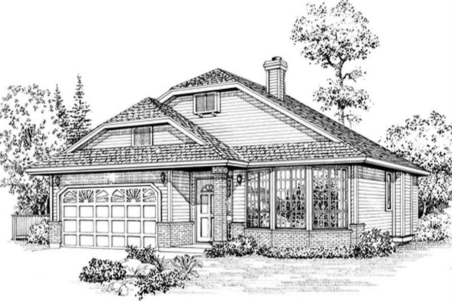 Main image for house plan # 6854