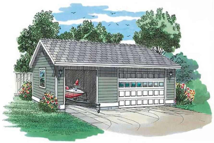 Main image for house plan # 7384