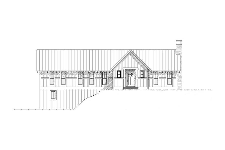 168-1001: Home Plan Front Elevation