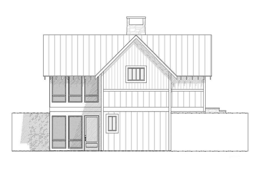 168-1001: Home Plan Left Elevation