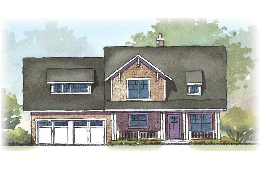 This is a colored front elevation of these lovely homeplans.