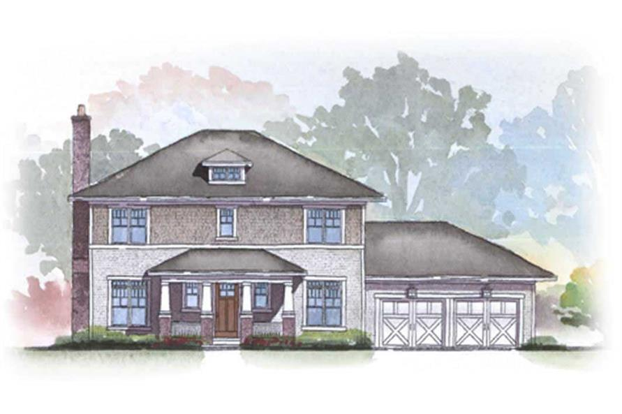 This is an artist's rendering for the Evergreen Home Plans.