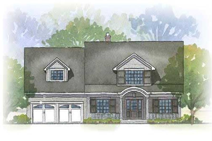 This is a great colored elevation of these cape cod houseplans.