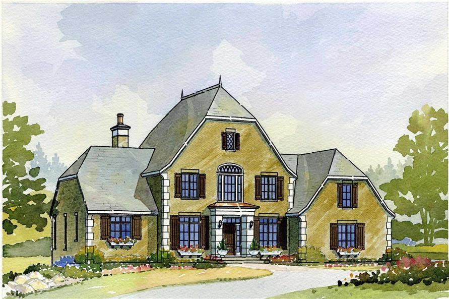 This is an artist's rendering of these English Country Home Plans.