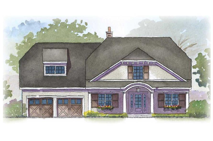 This is a colored rendering of these Country Homeplans.