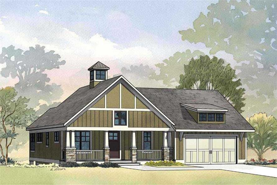 This is a front elevation of Stations Edge House Plan.