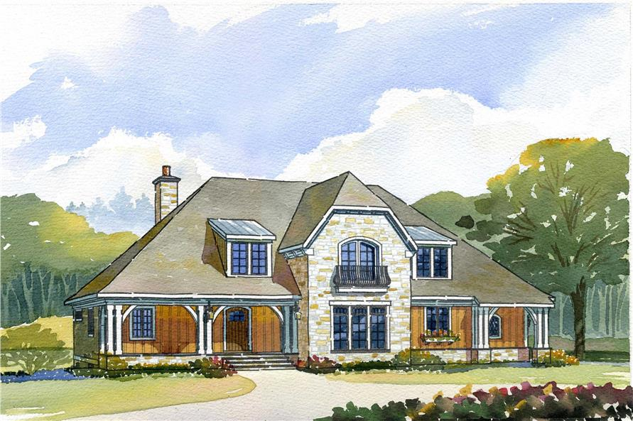 This is a colored rendering of the Storybook House Plans.