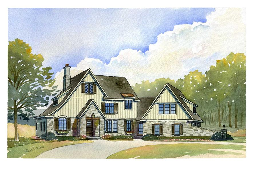 This is an artist's rendering of these elegant European Country Homeplans.