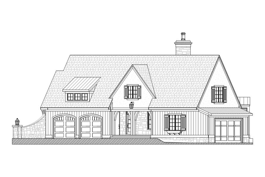 168-1104: Home Plan Right Elevation