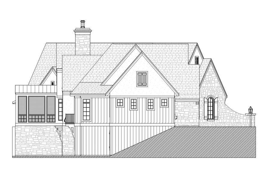 168-1104: Home Plan Left Elevation