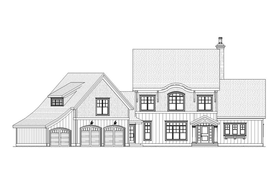 168-1106: Home Plan Front Elevation