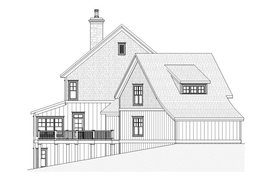 168-1106: Home Plan Left Elevation