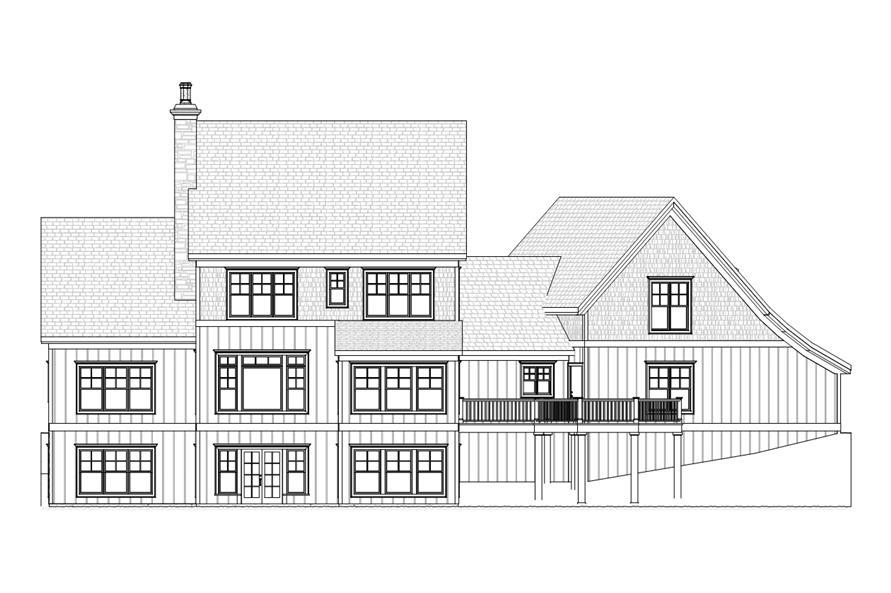 168-1106: Home Plan Rear Elevation