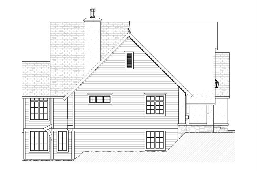 168-1107: Home Plan Left Elevation
