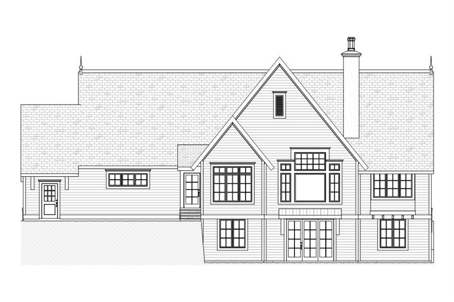 168-1107: Home Plan Rear Elevation