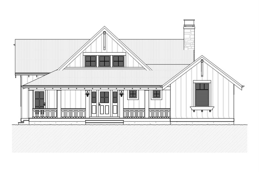 168-1110: Home Plan Front Elevation