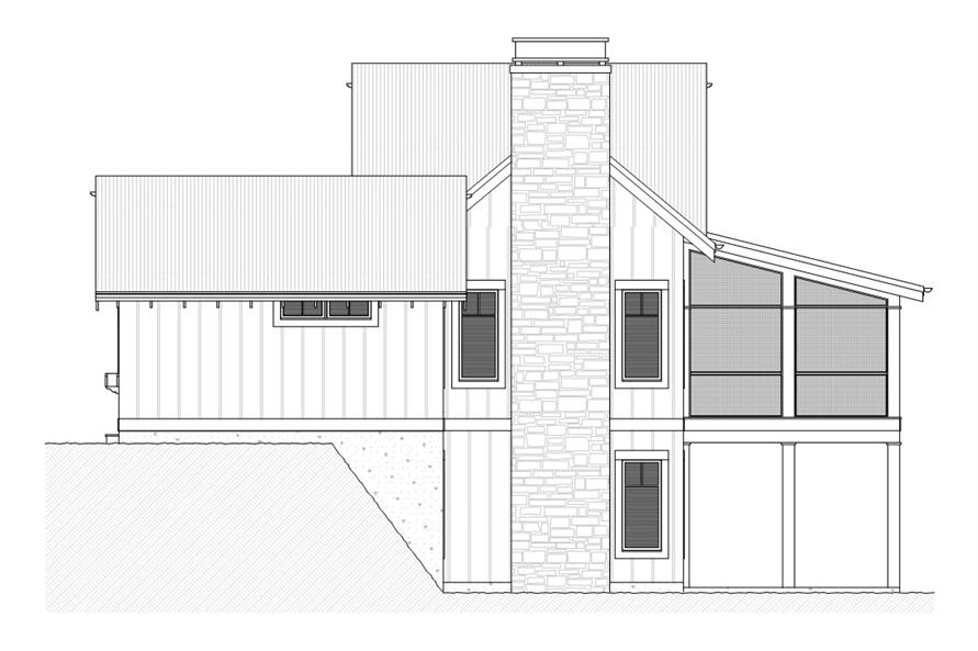 168-1110: Home Plan Right Elevation