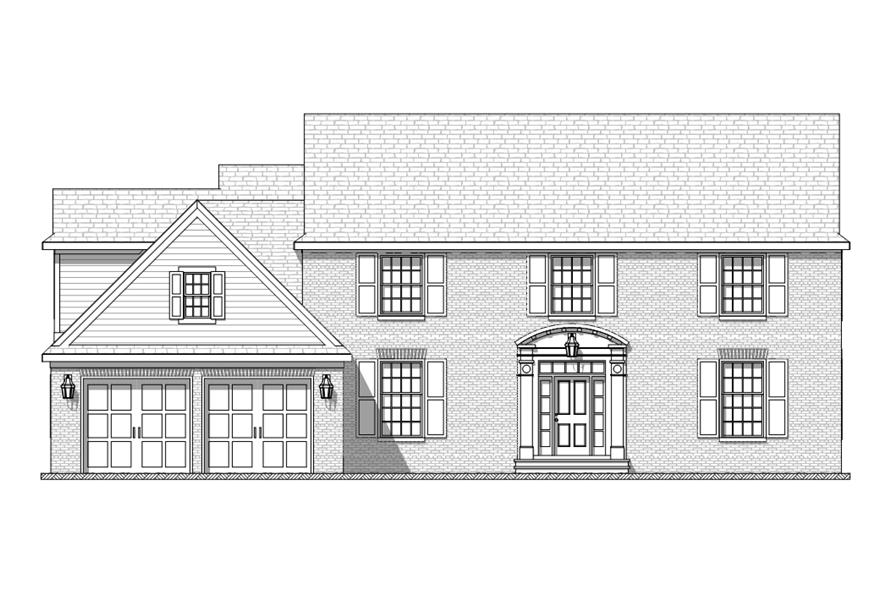 168-1115: Home Plan Front Elevation
