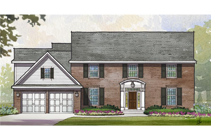 Front elevation of Traditional home (ThePlanCollection: House Plan #168-1115)